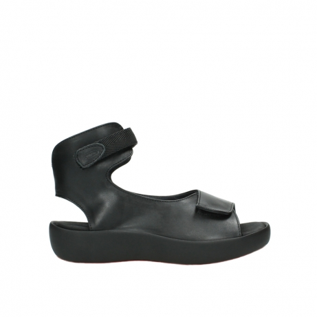 wolky sandalen 3203 bellona 300 zwart leer