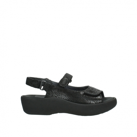 wolky sandalen 3204 jewel 700 zwart canals