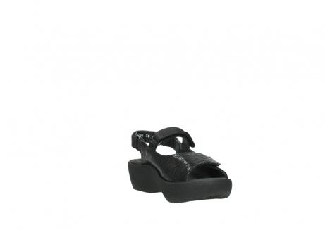 wolky sandalen 3204 jewel 700 zwart canals_17