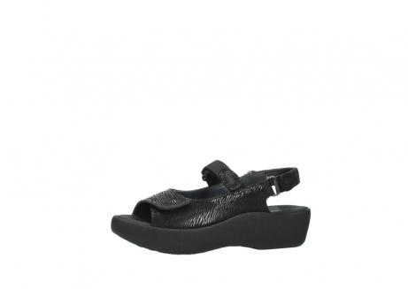 wolky sandalen 3204 jewel 700 zwart canals_24