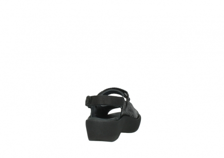 wolky sandalen 3204 jewel 700 zwart canals_8