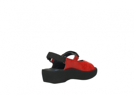 wolky sandalen 3204 jewel 750 rood canals_10