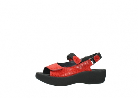wolky sandalen 3204 jewel 750 rood canals_24