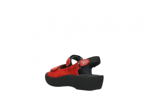wolky sandalen 3204 jewel 750 rood canals_4