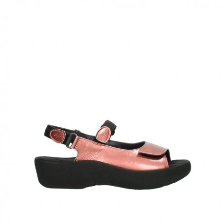 wolky sandalen 3204 jewel 853 koraal rood lakleer