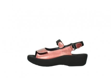 wolky sandalen 3204 jewel 853 koraal rood lakleer_1