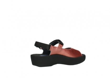 wolky sandalen 3204 jewel 853 koraal rood lakleer_11