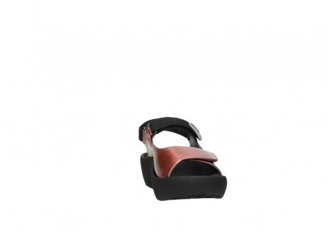 wolky sandalen 3204 jewel 853 koraal rood lakleer_18