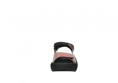 wolky sandalen 3204 jewel 853 koraal rood lakleer_19