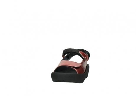 wolky sandalen 3204 jewel 853 koraal rood lakleer_20
