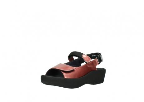 wolky sandalen 3204 jewel 853 koraal rood lakleer_22