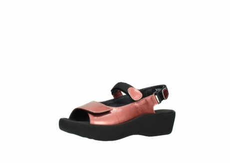 wolky sandalen 3204 jewel 853 koraal rood lakleer_23