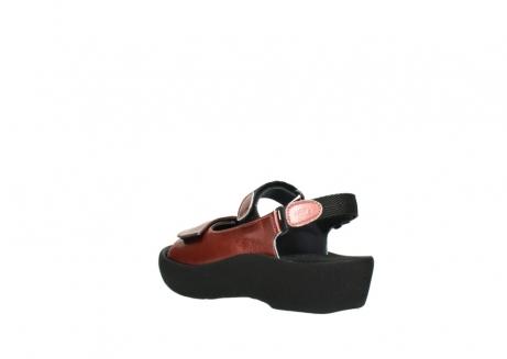 wolky sandalen 3204 jewel 853 koraal rood lakleer_4