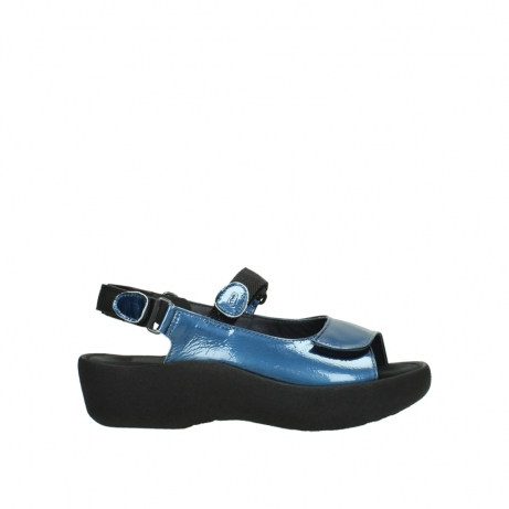 wolky sandalen 3204 jewel 882 denim metallic lakleer