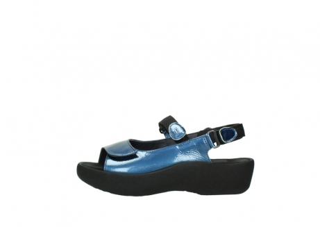 wolky sandalen 3204 jewel 882 denim metallic lakleer_1