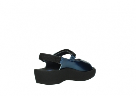 wolky sandalen 3204 jewel 882 denim metallic lakleer_10
