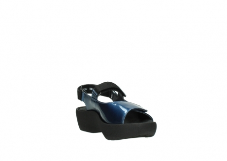 wolky sandalen 3204 jewel 882 denim metallic lakleer_17