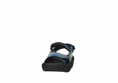 wolky sandalen 3204 jewel 882 denim metallic lakleer_20