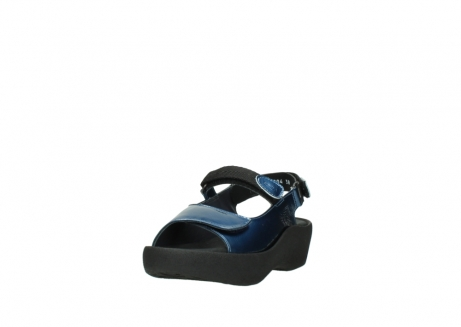 wolky sandalen 3204 jewel 882 denim metallic lakleer_21
