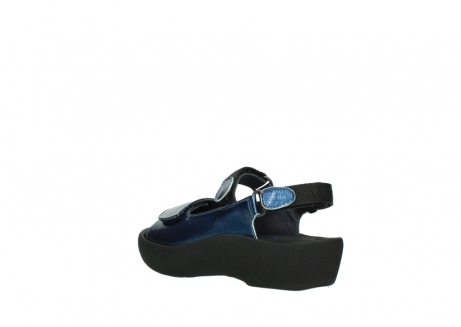 wolky sandalen 3204 jewel 882 denim metallic lakleer_4