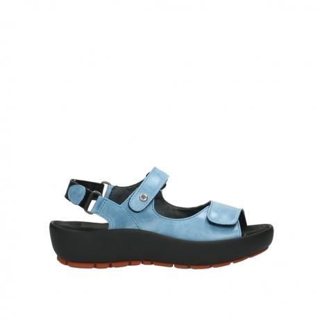 wolky sandalen 3325 rio 382 denim blauw leer