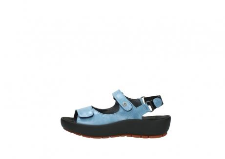 wolky sandalen 3325 rio 382 denim blauw leer_1