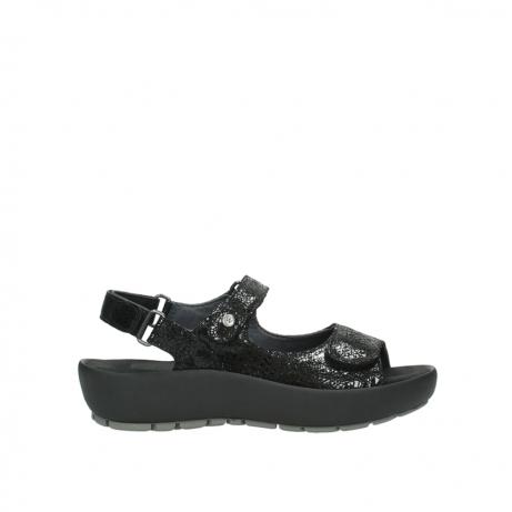 wolky sandalen 3325 rio 400 zwart craquele leer