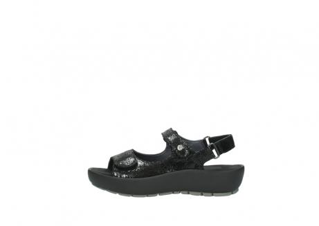 wolky sandalen 3325 rio 400 zwart craquele leer_1