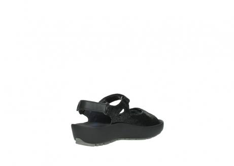 wolky sandalen 3325 rio 400 zwart craquele leer_10