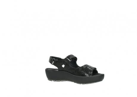 wolky sandalen 3325 rio 400 zwart craquele leer_15