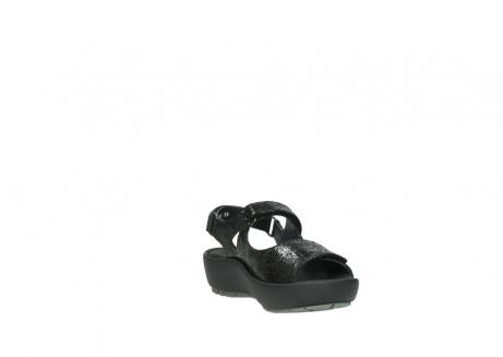 wolky sandalen 3325 rio 400 zwart craquele leer_17