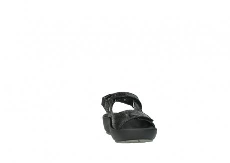 wolky sandalen 3325 rio 400 zwart craquele leer_18