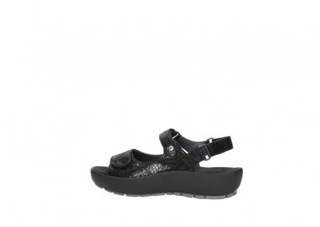 wolky sandalen 3325 rio 400 zwart craquele leer_2