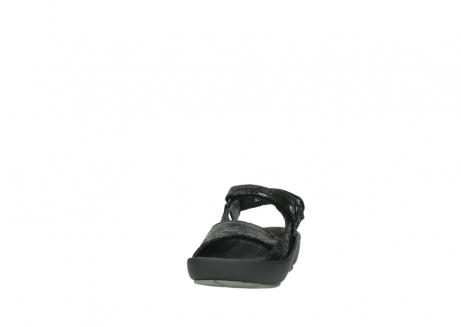 wolky sandalen 3325 rio 400 zwart craquele leer_20
