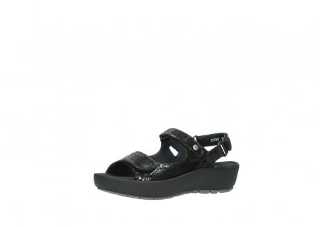 wolky sandalen 3325 rio 400 zwart craquele leer_23