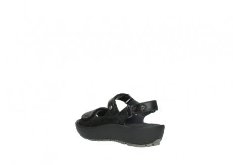 wolky sandalen 3325 rio 400 zwart craquele leer_4