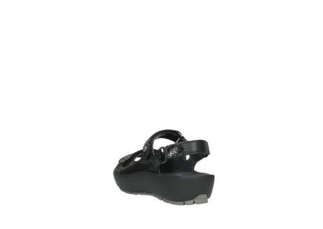 wolky sandalen 3325 rio 400 zwart craquele leer_5