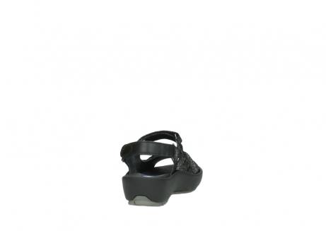 wolky sandalen 3325 rio 400 zwart craquele leer_8