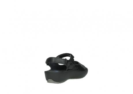 wolky sandalen 3325 rio 400 zwart craquele leer_9