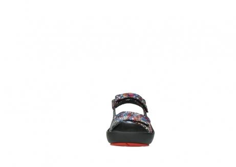 wolky sandalen 3325 rio 497 multi zwart craquele leer_19
