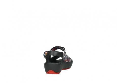 wolky sandalen 3325 rio 497 multi zwart craquele leer_8