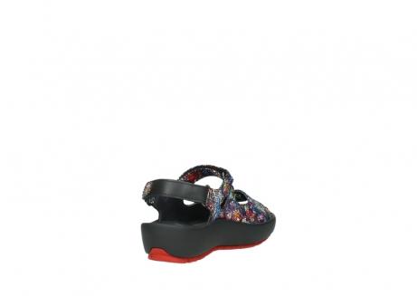 wolky sandalen 3325 rio 497 multi zwart craquele leer_9