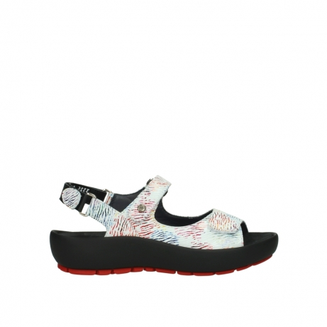 wolky sandalen 3325 rio 798 white multi color canal leather