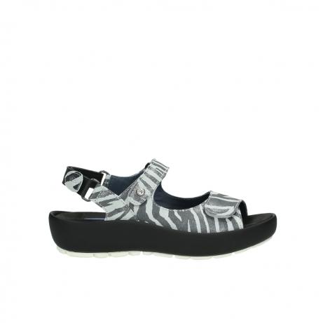 wolky sandalen 3325 rio 912 zebra print metallic leder