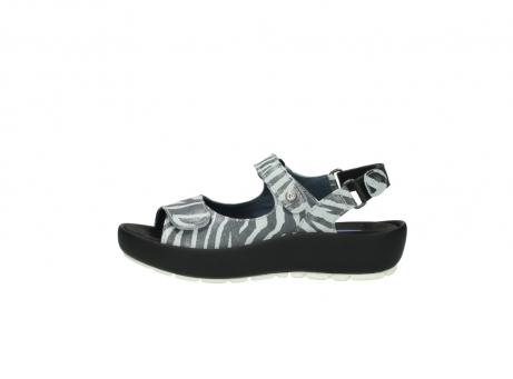 wolky sandalen 3325 rio 912 zebra print metallic leder_1