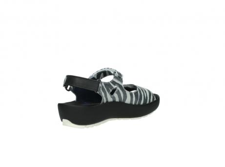 wolky sandalen 3325 rio 912 zebra print metallic leder_10
