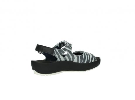 wolky sandalen 3325 rio 912 zebra print metallic leder_11