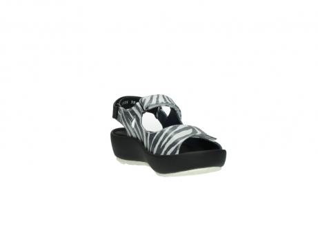 wolky sandalen 3325 rio 912 zebra print metallic leder_17