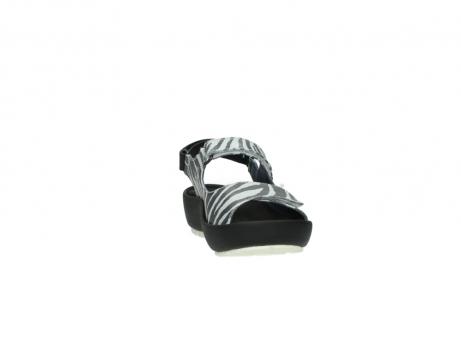 wolky sandalen 3325 rio 912 zebra print metallic leder_18