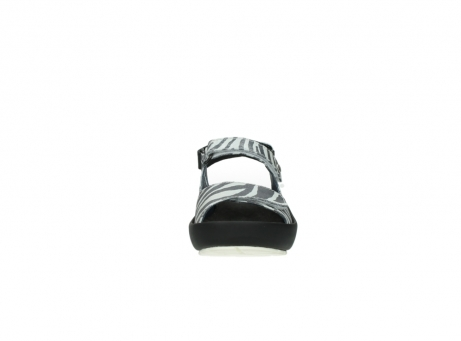 wolky sandalen 3325 rio 912 zebra print metallic leder_19